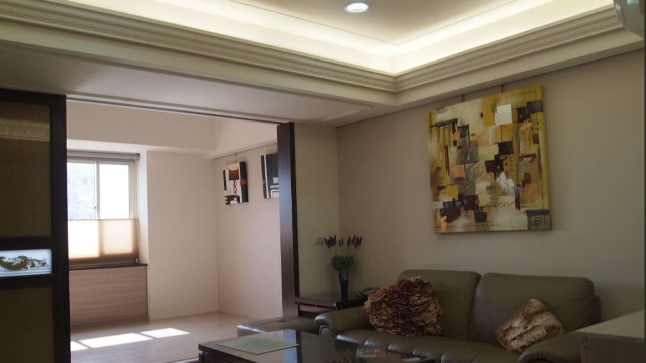 建築設計作品-舊屋翻新-間接照明天花板